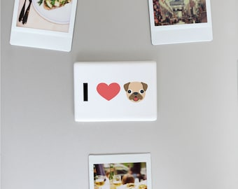 I Love Dogs Emoji Heart Ceramic Fridge Magnet, Funny Fridge Magnets, Refrigerator Magnet, Kitchen Decor, Dog Gift, Dog Lovers, FM014