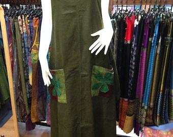 Smocked  Thai Handmade Bohemian Long Smock Dress Selection | Hand Dyed Fabric | Bohemian Clothing | Tye Dye Dress | Smocked Dress