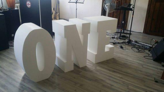 One Letters Set Of 3 Giant Styrofoam Letter Table Base Letters
