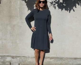 Style Arc Sewing Pattern - Talulah Knit Dress - Sizes 12, 14, 16 - Women's Long Sleeve Knit Dress - PDF Sewing Pattern