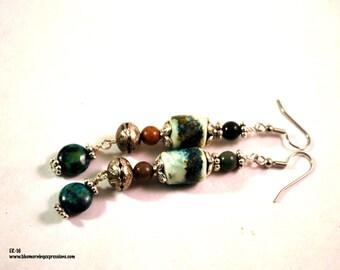 Earrings Handmade, Silver Earrings, Dangle Earrings, Polymer Earrings, Ready to Ship, Drop Earrings, Long Earrings, Boho Earrings