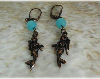 Mermaid Earrings, Beach Earrings, Summer Earrings