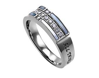 "Ensign Ring ""Christ My Strength"""