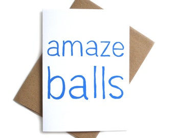 Amazeballs Funny Card | Funny Card for Friend | Funny Just Because Card | Congrats Card | Funny Congrats Card | Congrats for Friend