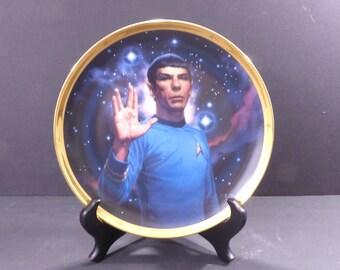 1991 Spock Star Trek 25th Anniversary commemorative plate