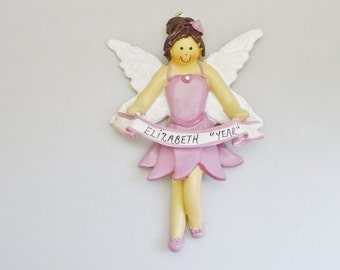 Personalized Fairy Ornament - Fairy Christmas Ornament - Fairy Lover Christmas Ornament