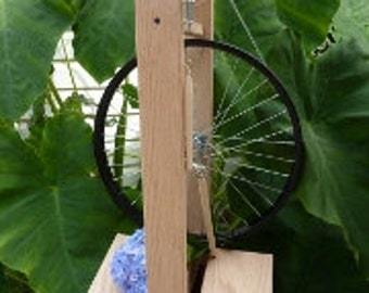 Modern,Double Treadle Spinning Wheel-Solid Red Oak-Bellus or Beautiful-Custom Made by Heavenly Handspinning