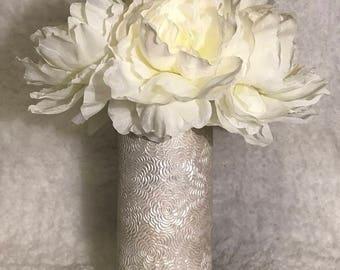 Flower Textured Vase Vintage Wedding Centerpiece Bridal Shower Decor Engagement Party Decor Baby Shower Decor Desk Accessories Office Decor