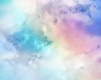 Rainbow Print, Clouds Picture, Rainbow Picture, Cloud Photo, Rainbow Photo, Rainbow Nursery Decor, Rainbow Art, Cloud Print, Rainbow Nursery