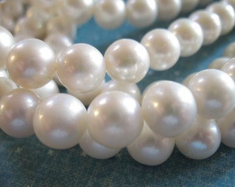 2 4 10 20 pcs, 7.5-8 mm, Loose Pearl, White Pearls, Round White Pearls, Pearl Bead, Cultured, Luxe AA to AAA, brides bridal rw 788 top solo