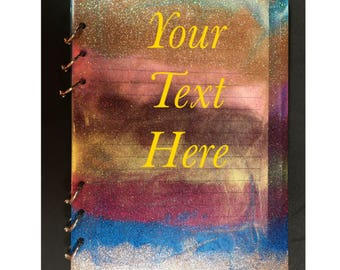 Rainbow glitter Translucent notebook