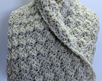 Winter Scarf Tan Wool Blend Cowl Scarf Handmade in Canada & On Sale Now!
