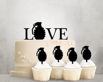 Love Explosion Acrylic Toppers for Party Wedding Birthday Decorations