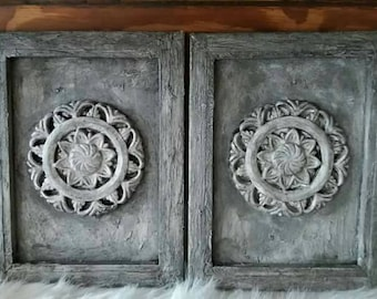 Canvas painting with beautiful ornament.