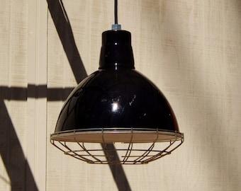 Black Industrial Pendant Lights, Vintage Light Restaurant Light Factory Light Metal LIght Gas Station LIght Porcelain Light Pendant Lighting