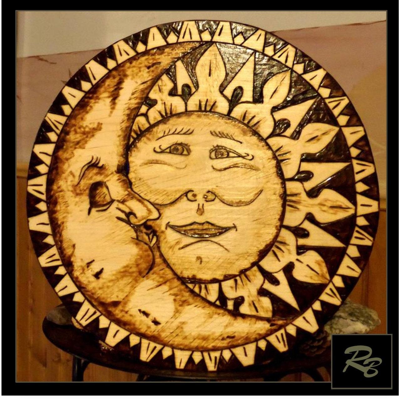 Fine Sun Moon Wall Art Frieze - Art & Wall Decor - hecatalog.info