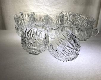 "Punch Cups   Set of Twelve   ""Williamsport""   by Hazel Atlas"
