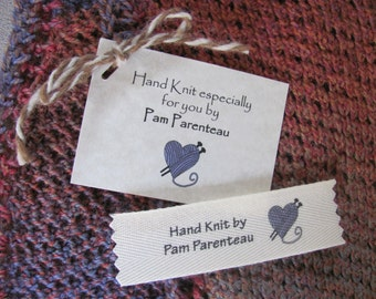 Knitting Labels, Knitting Tags, Personalized Knitting labels, Personalized  Tags, Name labels with