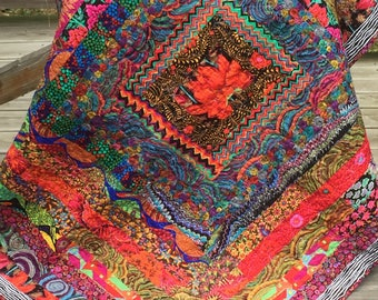 Italian Inspired Floral Throw Quilt