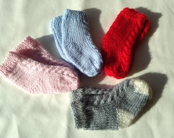 Baby Socks - Merino Wool - Cable
