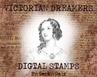 Victorian Dreamers Digital Stamp Set