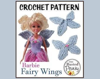 PATTERN - Barbie Fairy Wings Crochet PATTERN, Instant Download