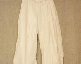 Vintage Italian cotton genie pants low waist size small