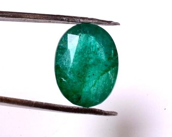 Emerald 5.70 Cts Emerald Oval Shape Gemstone 13.32X10.15 MM Size Natural Emerald Loose oval  shape Gemstone 03