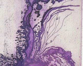 The purple rute, Original, Monotype, One of a kind.home decoration