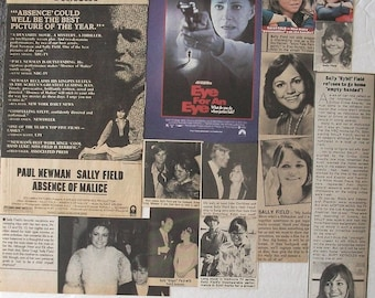 SALLY FIELD ~ My Name Is Doris, Steel Magnolias, Norma Rae, Flying Nun, Gidget ~ Color and B&W Clippings, Articles, Adverts from 1968-1983