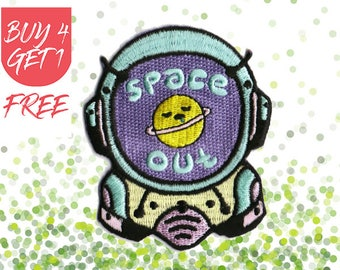 Space Patches Astronaut Patch Iron On Patch Embroidered Patch Astronaut Helmet Space Out