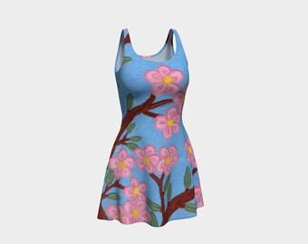 Cherry Blossoms - Fine Art All Over Print Flare Dress