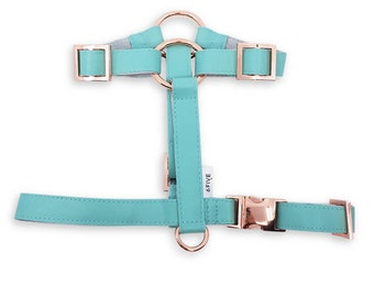 Mint Dog and Cat Harness in Rose Gold Hardware