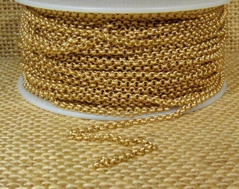 2.0mm Rolo Chain - Matte Gold - 2.0mm Links - CH48 - Choose Your Length