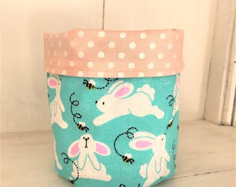 Fabric basket organizer, easter basket, fabric basket, easter bunny, fabric bucket, storage bins, fabric basket storage, fabric bins