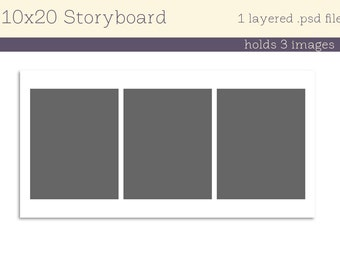single 10x20 storyboard 3 pictures INSTANT DOWNLOAD