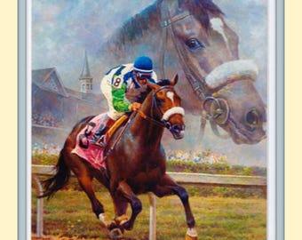 Beloved Barbaro Americas Horse Fred Stone 11x14 Double Matted 8x10 Art Print