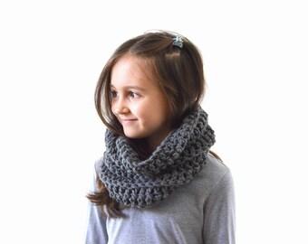 Kids Knit Scarf Cowl Neck Warmer, Children Scarf, Boys Girls Scarf Cowl | The Denver