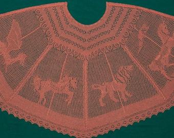 Lace Knitting Pattern   Carousel Cape (PDF File)