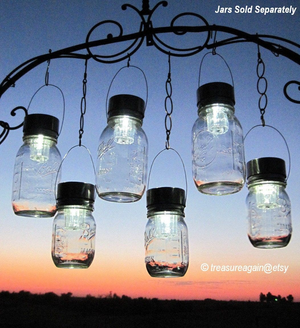 Outdoor event lighting mason jar solar lights wedding lights zoom arubaitofo Gallery