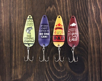Fathers Day Gift - Set of 4, Fishing Gifts, Birthday Gift for Dad, Gifts for Him, Gifts Under 25, Christmas Stocking Stuffer, Fishing Lures