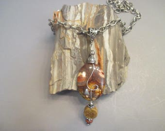 Bird's Eye Rhyolite Necklace