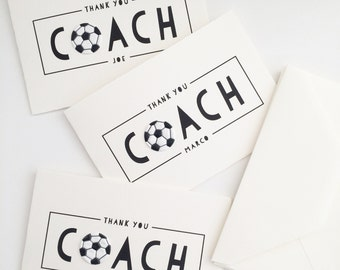 Thank You Coach Card // soccer coach card // thank you soccer card // soccer card // coaching card // thank you coach card //LARGE CARD