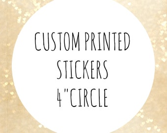 Custom printed circle Labels, custom stickers, 4 inches circle, big circle  label, custom labels,bakery stickers, organic product labels
