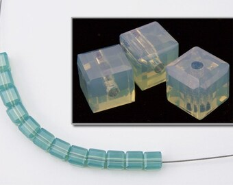 Swarovski 5601 Pacific Opal Cube Bead  (4mm, 6mm, 8mm)