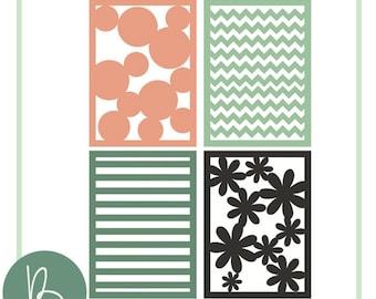 Patterned Background SVG Files - Stripes, Chevron, Polka Dot, Stripes