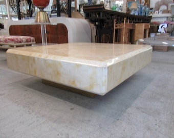 Karl Springer Tesselated Coffee Table