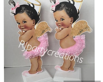 Halo baby girl centerpiece