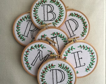 Christmas Letter Embroidery