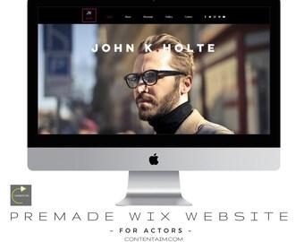 Actor Website | Actors Showreel | Wixsite | Actors Wix Template | Responsive Website | Portfolio Template